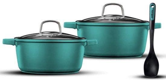 צלילת מחיר לפני החג! סט סירים Food Appeal Mineral – בצבעים מרעננים – רק ב₪179!!!