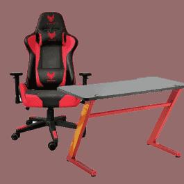 חבילת גיימינג שווה בירידת מחיר ל24 שעות! (ולא רק) כיסא גיימינג נוח SPARKFOX + שולחן גיימינג LUMI  כחול/אדום רק ב₪1099! (במקום ₪2499!)