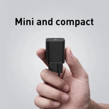 רוצים מטען מהיר וקטן במיוחד? Baseus Super Si 20W USB-C PD רק ב$7.99!