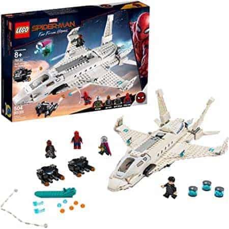 "LEGO 76130 | לגו ספיידרמן – ""רחוק מהבית"" מטוס הסטארק ג'ט ומתקפת הרחפנים (504 חלקים) רק ב₪241! במקום ₪348"