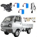 WPL D12 1/10 2.4G 2WD Military Truck Crawler
