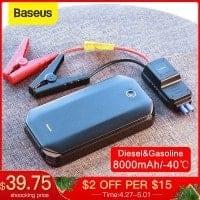 """בוסטר/ג'אמפ סטרטר/ סוללת התנעה לרכב הכי נמכרת! 8000mAH מבית Baseus רק ב$35.32 /  119 ש""""ח!"""