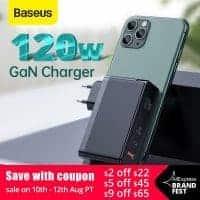 מטען חחחחחזק! Baseus 120W GaN USB Charger עם תמיכה בהטענת מחשבים (אפילו 2!), טאבלטים ועוד בשלל טכנולוגיות הטענה מהירה – QC4.0 QC3.0 PD3.0 רק ב$35.89!!!