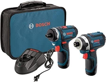 """דיל קודח! סט קומבו Bosch CLPK27-120 עם 2 מברגות-מקדחות/אימפקט 12V של בוש עם 2 סוללות, מטען ותיק – רק ב₪571 ש""""ח!"""
