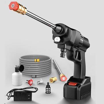 אקדח לחץ מים / מיני ג'רניק אלחוטי 300W/500W, 30BAR, 12V/24V ללא מס! – רק ב₪268 כולל משלוח!