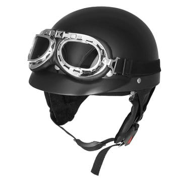 קסדת אופנוע רטרו נגד קרינת שמש, מכסות חצי פנים