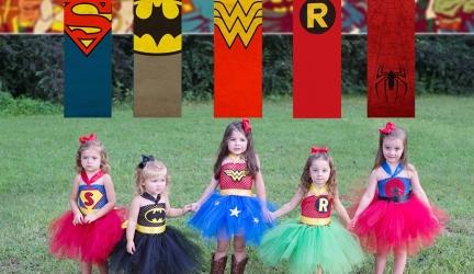 תחפושות גיבורות על לילדות