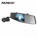 PAPAGO Gosafe 738  – מצלמת רכב כפולה משולבת מראה אחורית ומצלמת רוורס! 99$