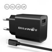 מטען מומלץ מבית בילצוולף המצויינים BlitzWolf BW-S9 במחיר 7.99$ בלבד! (מגיע עם כבל USB)