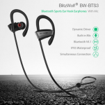 8 שעות שימוש!! BlitzWolf® BW-BTS3 – אוזניות ספורט אלחוטיות ב-$19.19 כולל משלוח!