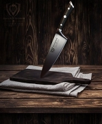 """סכין שף מקצועית עם ביקורות מטורפות! 780 ביקורות – 85% נתנו 5 כוכבים! DALSTRONG Chef Knife – Gladiator Series – German HC Steel  רק 187 ש""""ח!"""