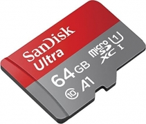 כרטיס זיכרון –SanDisk Ultra – נפח 64GB – ב- 70₪[בארץ 88 ₪ ]