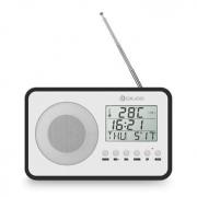 שעון רדיו אלחוטי – כולל מד טמפרטורה + לוח שנה + שעון מעורר – בסגנון וינטאג' – ב- 19.99 $