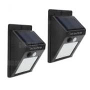 זוג מנורות לד לתאורת חוץ – עמידות בפני מים – סולארי – ב-9.99 $ !