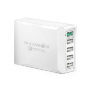 [Qualcomm Certified]BlitzWolf® BW-S7 QC3.0 40W 5 USB Desktop Charger Adapter With Power3S Tech