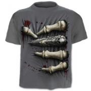 Mens Skull Printed Short Sleeve Tshirt Size M