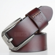 COWATHER Business Casual Fashion Mens Pin Buckle Simple Retro Belt