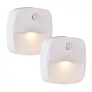 זוג מנורות לד + חיישן תנועה – לשימוש ביתי – בחדרי ארונות / מעברים ועוד – ב-6.99 $ ! – מלאי מוגבל