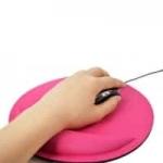 משטח לעכבר – עם משענת ג'ל לכף היד – במגוון צבעים – ב-1.33 $ !