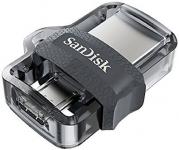 זיכרון נייד דואלי –SanDisk Ultra Dual Drive – נפח 256GB – לחיבור למחשב / טאבלט / סלולר – החל מ- 231 ₪ [בארץ355 ₪] – כולל הכל!