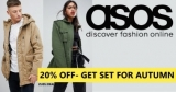 | ASOS | מתכוננים לעונה הקרה עם 20% הנחה על קולקצית הסתיו לגברים ונשים!