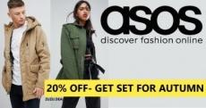   ASOS   מתכוננים לעונה הקרה עם 20% הנחה על קולקצית הסתיו לגברים ונשים!
