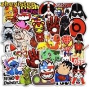 Super Hero Stickers – מארז 50 מדבקות לילדים / גיקים – ב- 1.55 $ !
