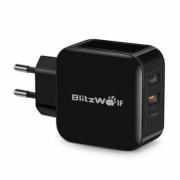 """המטען הכפול הכי מומלץ! BlitzWolf BW-S6 QC3.0+2.4A 30W בכ35 ש""""ח!"""