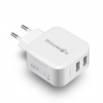 BlitzWolf BW S2 4.8A 24W Dual USB EU Charger With Power3S Tech for iphone 8 8 Plus iphone X Xiaomi Samsung