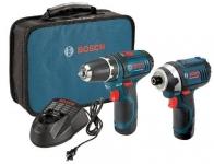 """דיל קודח! סט קומבו – 2 מברגות-מקדחות רוטטות/אימפקט 12V של בוש עם 2 סוללות – רק ב549 ש""""ח! Bosch12-Volt"""