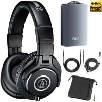 """דיל לאודיופילים – Audio-Technica ATH-M40x Professional Studio Monitor Headphones + FiiO A3 Amp – ב646 ש""""ח"""