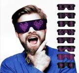 משקפי נורות לד מתחלפות – להיט לפורים, למסיבות ולחתונות! ₪42 ! כולל משלוח!
