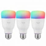 סט 3 נורות חכמות וצבעוניות של שיאומי (הדור החדש) – YEELIGHT 10W RGB E27 – רק ב49.99$!