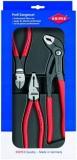 מחיר מציאה לסט הכולל פלייר, קאטר ומפתח צינורות של מותג העל הגרמני Knipex