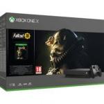 Xbox One X 1TB עם המשחק Fallout76 ומשלוח חינם עד הבית- רק ב1789שח!