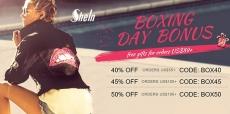 הנחות והפתעות לBOXING DAY  באתר אופנת הנשים – shein